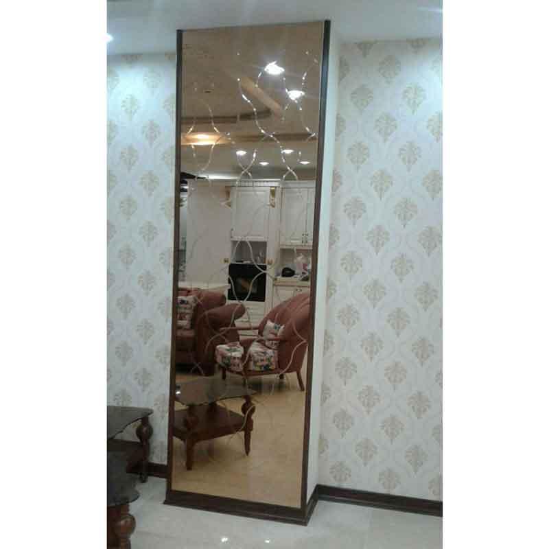آینه-دکوراتیو-طرح-لوزی-منحنی