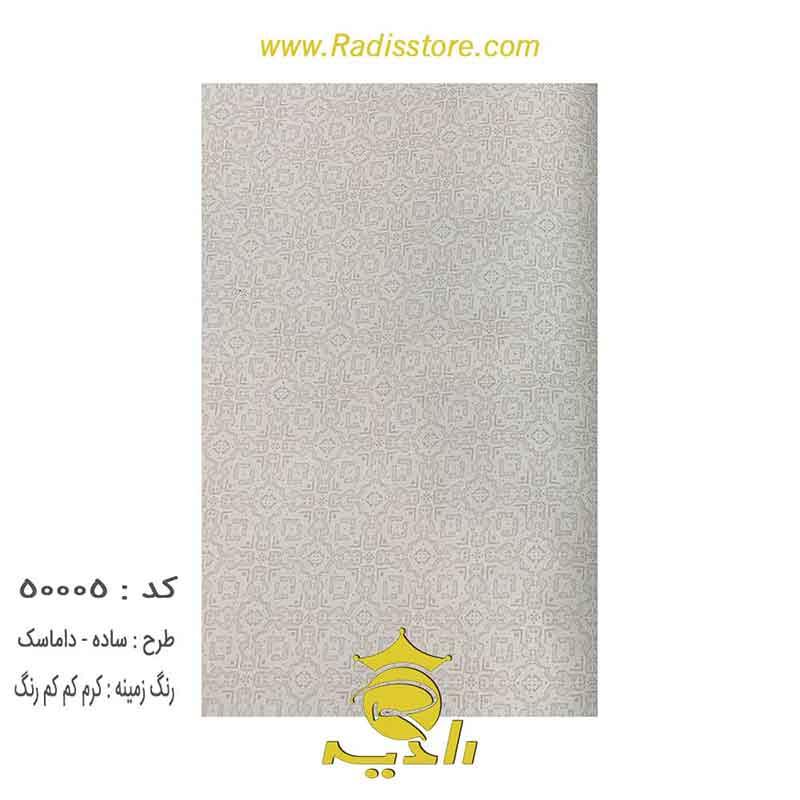 50005-کرم-کم-رنگ-داماسک-ساده-okeea-کاغذ-دیواری-پذیرایی